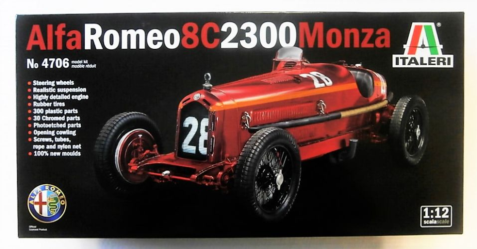ITALERI 1/12 4706 ALFA ROMEO 8C 2300 MONZA  UK SALE ONLY