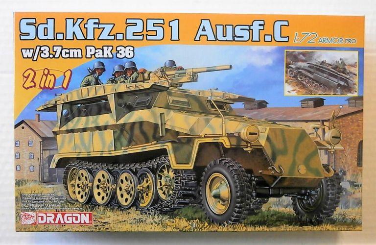 DRAGON 1/72 7606 SD.KFZ.251 AUSF.C WITH 3.7CM PAK 36