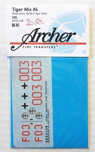 1/35 2050. ARCHER FINE TRANSFERS AR35158 TIGER MIX 4