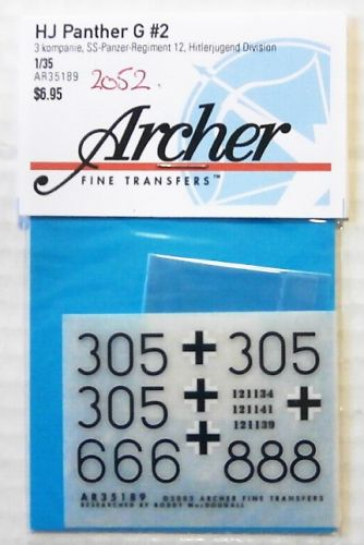 1/35 2052. ARCHER FINE TRANSFERS AR35189 HJ PANTHER G No 2