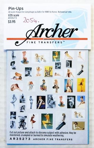 1/35 2054. ARCHER FINE TRANSFERS AR35273 PIN UPS