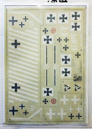 BLUE RIDER 1/48 2076. BR501 WW1 GERMAN LUFTSTREITKRAFTE MARKINGS  SHEET 2
