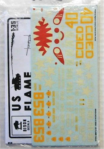BISON DECALS 1/35 2088. 35036 US FLAME TANKS FROM SATAN TO ZIPPO