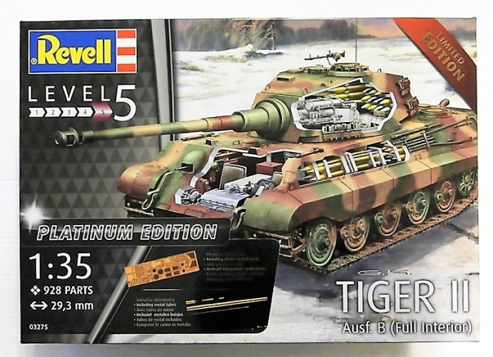 REVELL 1/35 03275 TIGER II AUSF.B  FULL INTERIOR  PLATINUM EDITION