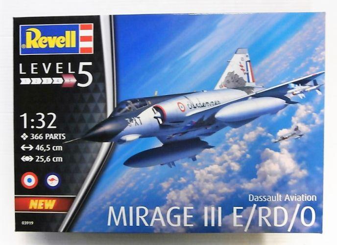 REVELL 1/32 03919 DASSAULT AVIATION MIRAGE III E/RD/O