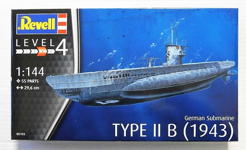 REVELL 1/144 05155 GERMAN SUBMARINE TYPE II B  1943