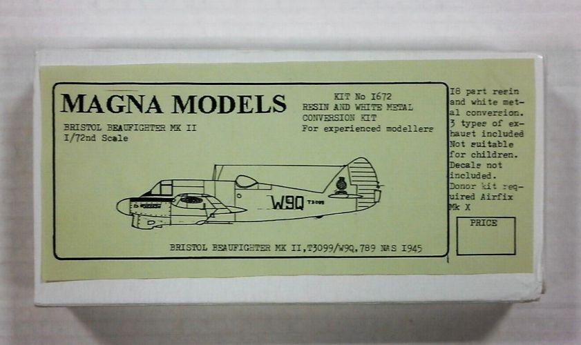 MAGNA CONVERSION SET 1/72 1672 BRISTOL BEAUFIGHTER Mk.II