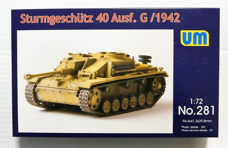 UNIMODEL 1/72 281 STURMGESCHUTZ 40 AUSF.G/1942