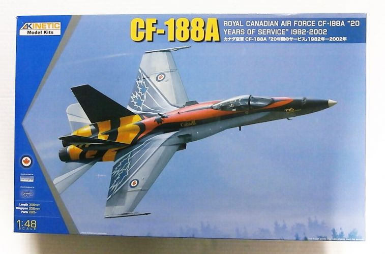 KINETIC 1/48 48079 CF-188A RCAF 20 YEARS OF SERVICE 1982-2002