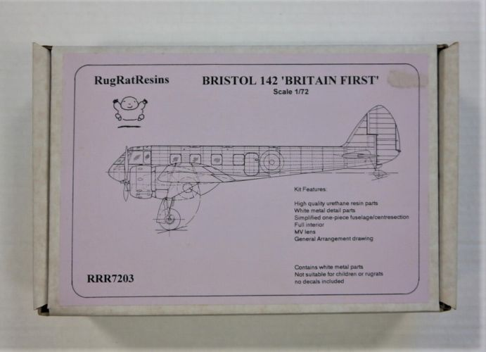 RUGRAT 1/72 7203 BRISTOL 142 BRITAIN FIRST