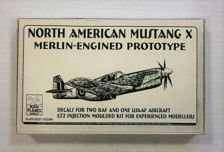 HIGHPLANES 1/72 72029 NORTH AMERICAN MUSTANG X MERLIN-ENGINED PROTOTYPE