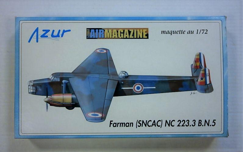 AZUR 1/72 FARMAN  SNCAC  NC 223.3 B.N.5
