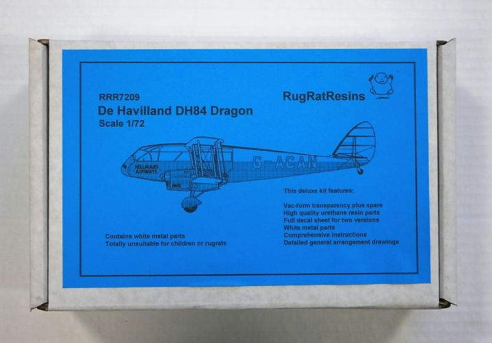 RUGRAT 1/72 7209 DE HAVILLAND DH84 DRAGON
