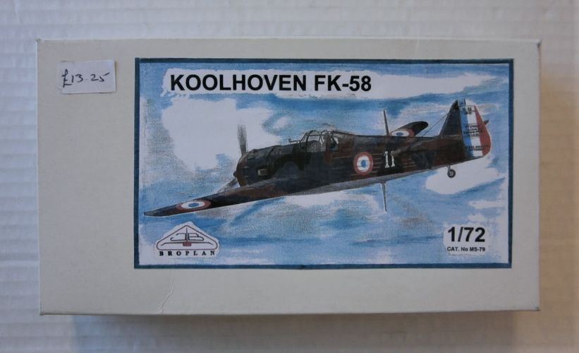 BROPLAN 1/72 79 KOOLHOVEN FK-58