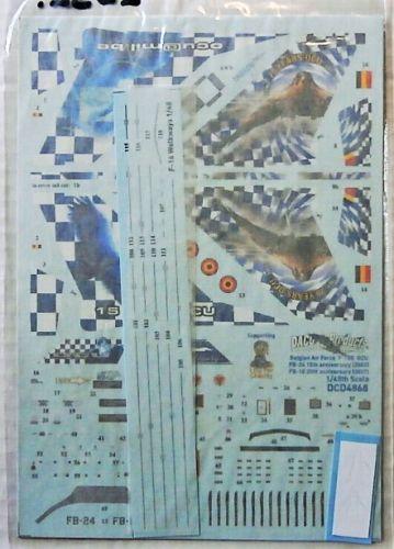 DACO PRODUCTS 1/48 2532. 4868 F-16B MLU FIGHTING FALCON OCU SQN BELGIAN AIR FORCE