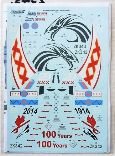 XTRADECAL 1/32 2543. 32056 EUROFIGHTER TYPHOON FGR.4 SPECIAL SCHEMES