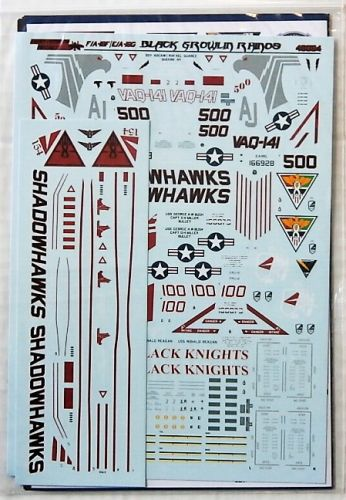 FIGHTERTOWN DECALS 1/48 2548. 48054 EA-18G/ F/A-18F BLACK GROWLIN RHINOS