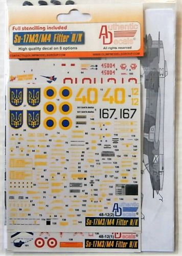 DISCOUNT DECALS 1/48 2550. 4812 SU-17M3/ M4 FITTER H/K