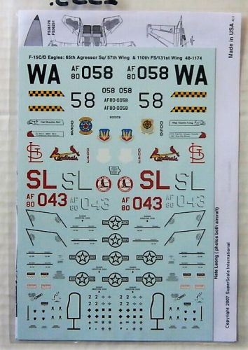 DISCOUNT DECALS 1/48 2553. 481174 F-15C/D EAGLES