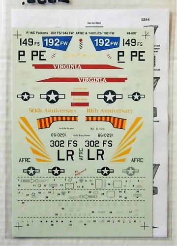 DISCOUNT DECALS 1/48 2555. 48697 F-16C FALCONS