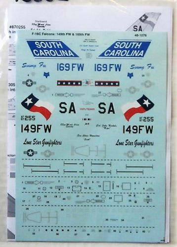 DISCOUNT DECALS 1/48 2556. 481076 F-16C-30/52 FALCONS