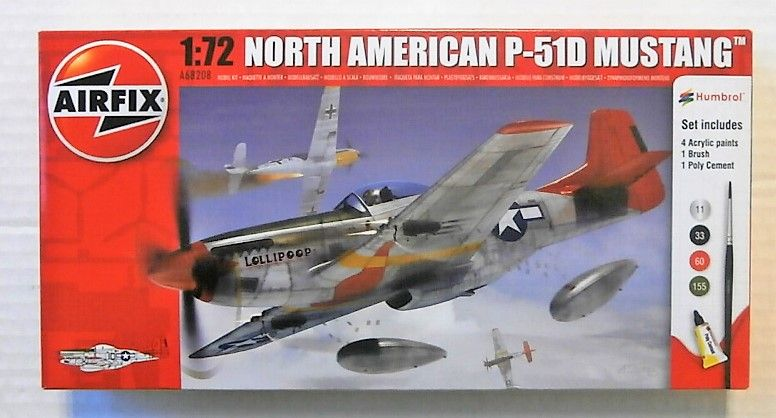 AIRFIX 1/72 68208 NORTH AMERICAN P-51D MUSTANG