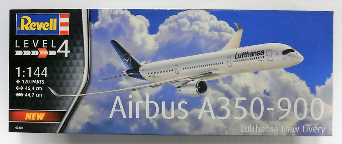 REVELL 1/144 03881 AIRBUS A350-900  LUFTHANSA NEW LIVERY