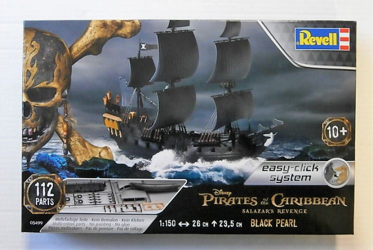 REVELL 1/150 05499 DISNEY PIRATES OF THE CARIBBEAN SALAZARS REVENGE BLACK PEARL