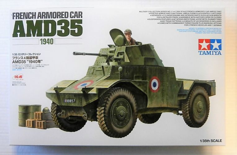 TAMIYA 1/35 32411 FRENCH ARMOURED CAR AMD35