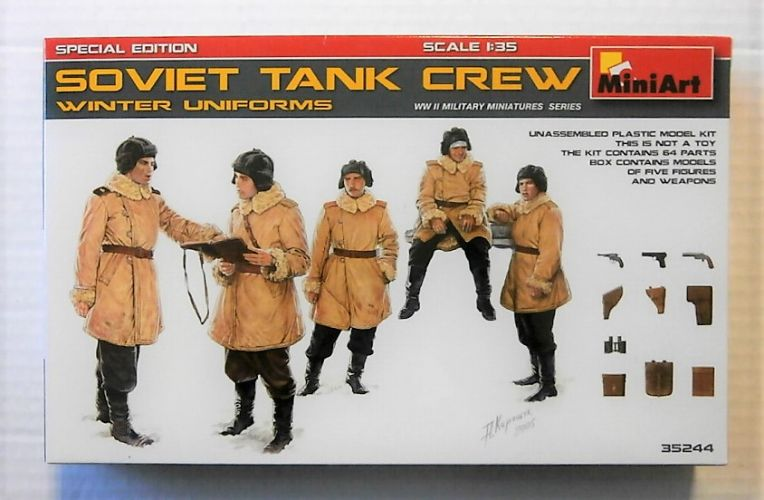 MINIART 1/35 35244 SOVIET TANK CREW WINTER UNIFORMS