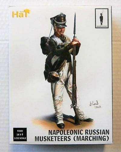 HAT INDUSTRIES 1/32 9320 NAPOLEONIC RUSSIAN MUSKETEERS  MARCHING