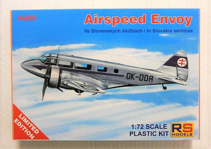 RS MODELS 1/72 94005 AIRSPEED ENVOY IN SLOVAKIA SERVICES
