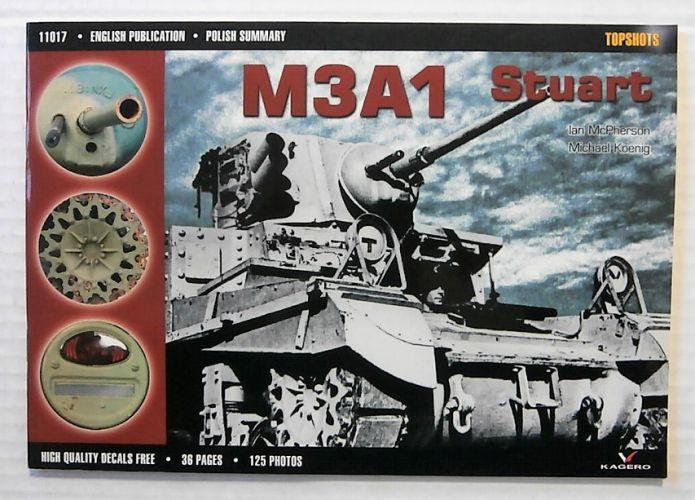 CHEAP BOOKS  ZB2310 TOPSHOTS 11017 - M3A1 STUART  NO DECALS
