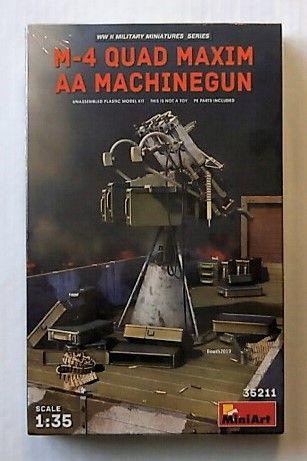 MINIART 1/35 35211 M-4 QUAD MAXIM AA MACHINE GUN