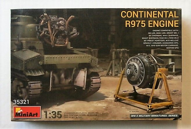MINIART 1/35 35321 CONTINENTAL R975 ENGINE