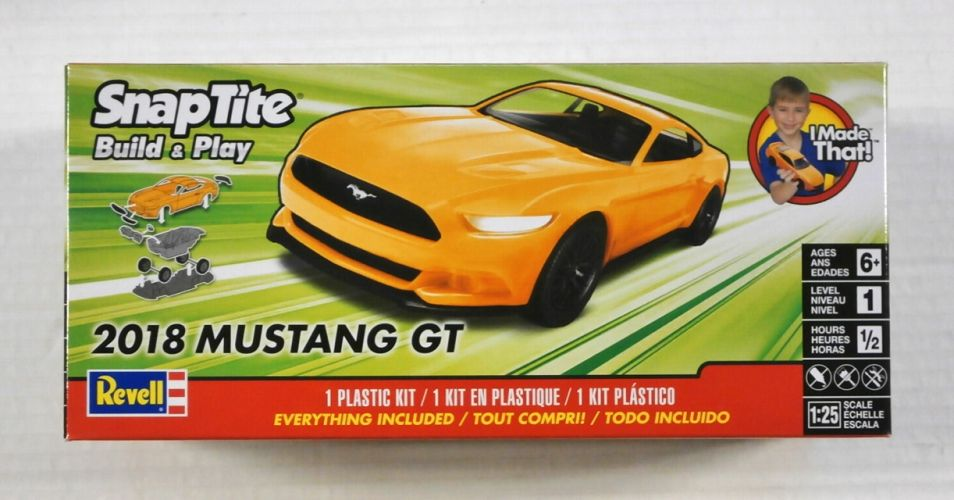 REVELL 1/25 1996 SNAPTITE 2018 MUSTANG GT