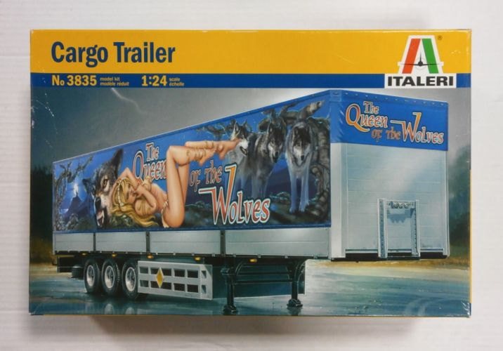 ITALERI 1/24 3835 CARGO TRAILER THE QUEEN OF THE WOLVES