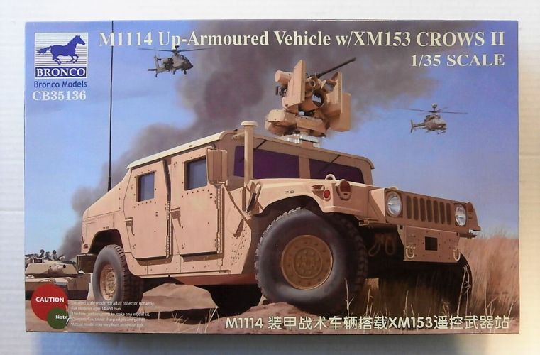 BRONCO 1/35 35136 M1114 UP-ARMOURED VEHICLE W/ XM153 CROWS II