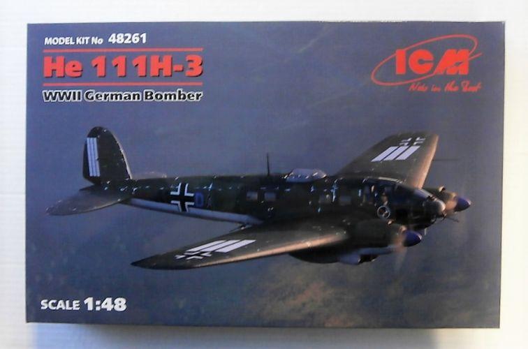 ICM 1/48 48261 HEINKEL He 111H-3 WWII GERMAN BOMBER