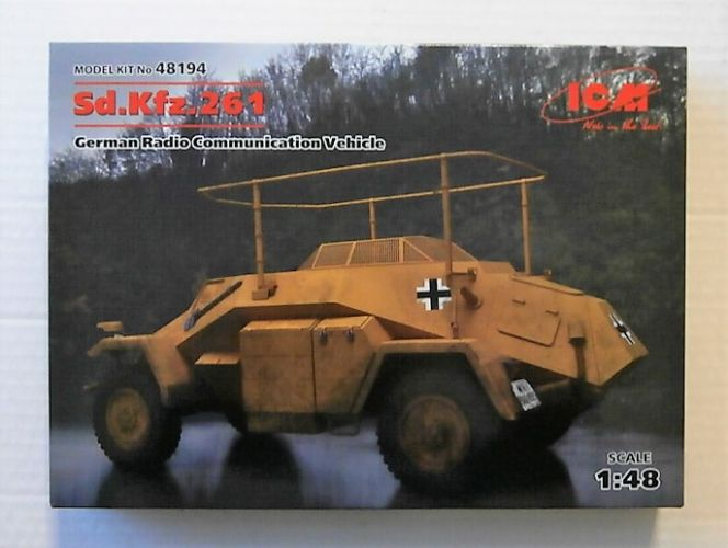ICM 1/48 48194 SD.KFZ.261 GERMAN RADIO COMMUNICATION VEHICLE