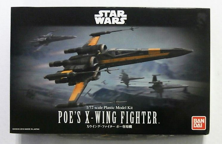 BANDAI 1/72 0210500 STAR WARS POES X-WING FIGHTER
