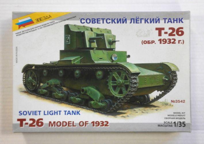 ZVEZDA 1/35 3542 SOVIET T-26 TWIN TURRET