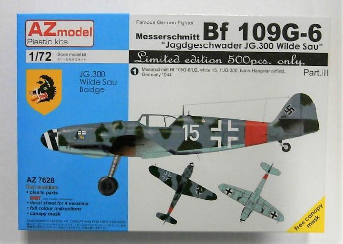 AZ MODEL 1/72 7628 MESSERSCHMITT BF 109G-6 JAGDGESCHWADER JG.300 WILDE SAU