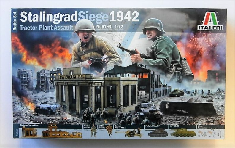 ITALERI 1/72 6193 STALINGRAD SIEGE 1942 TRACTOR PLANT ASSAULT BATTLE SET  UK SALE ONLY