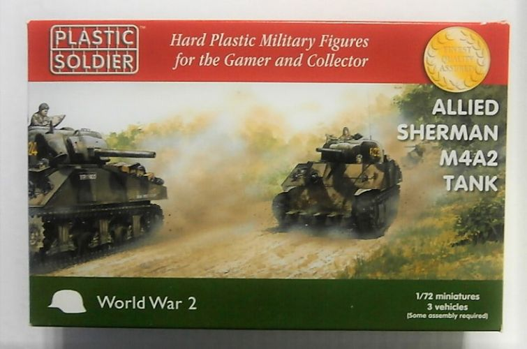 PLASTIC SOLDIER 1/72 WW2V20034 ALLIED SHERMAN M4A2 TANK