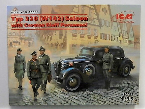 ICM 1/35 35539 TYP 320  W142  SALOON WITH GERMAN STAFF PERSONNEL