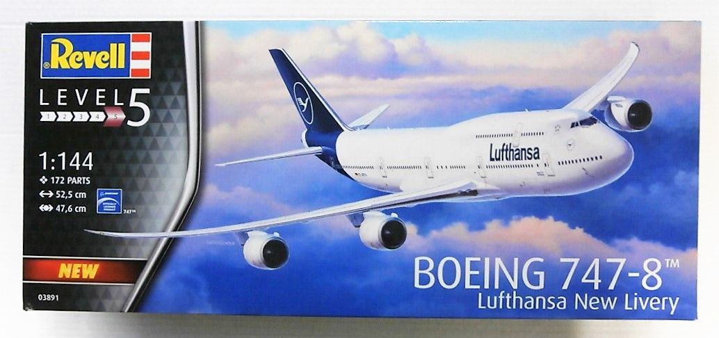 REVELL 1/144 03891 BOEING 747-8 LUFTHANSA NEW LIVERY