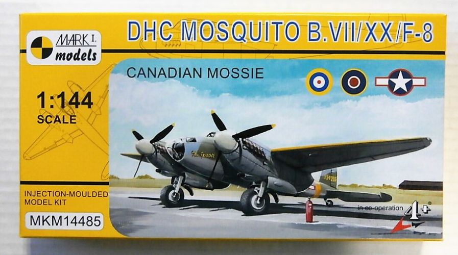 MARK I MODELS 1/144 14485 DHC MOSQUITO B.VII/XX/F-8