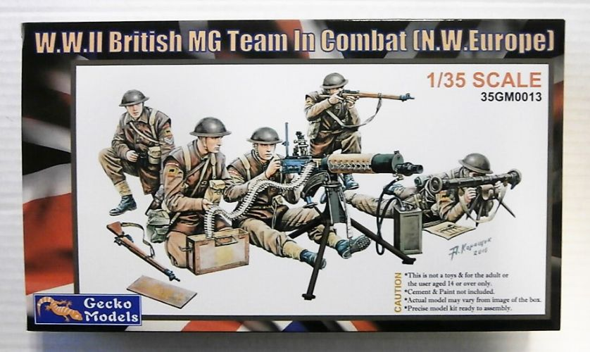 GECKO MODELS 1/35 350013 WWII BRITISH MG TEAM IN COMBAT N.W EUROPE
