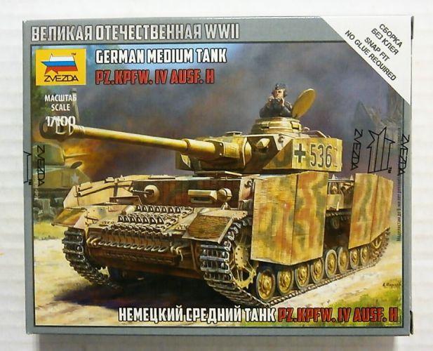 ZVEZDA 1/100 6240 GERMAN MEDIUM TANK PZ.KPFW.IV AUSF.H